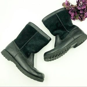 Ugg | Black Leather & Nubuck Boots